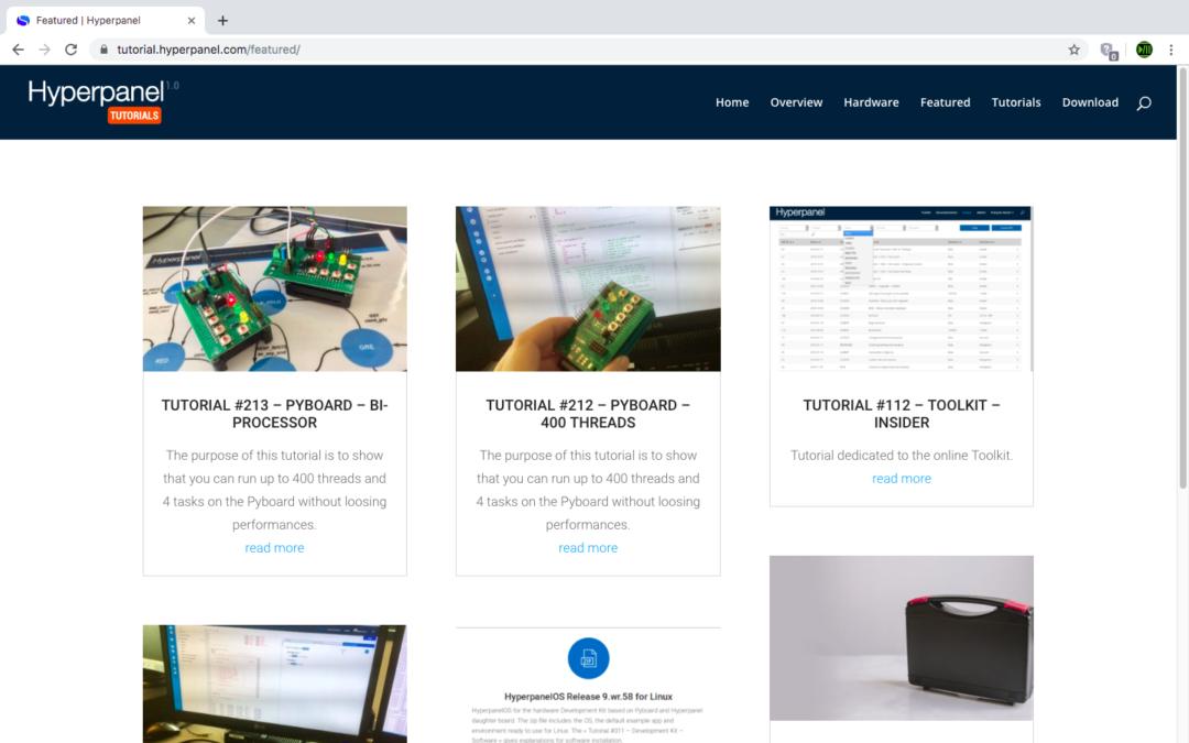 New website for Hyperpanel OS tutorials